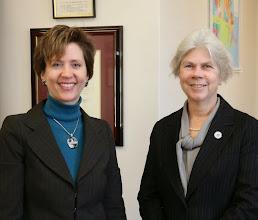 Photo: BBA President-Elect Julia Huston and Representative Alice Peisch.