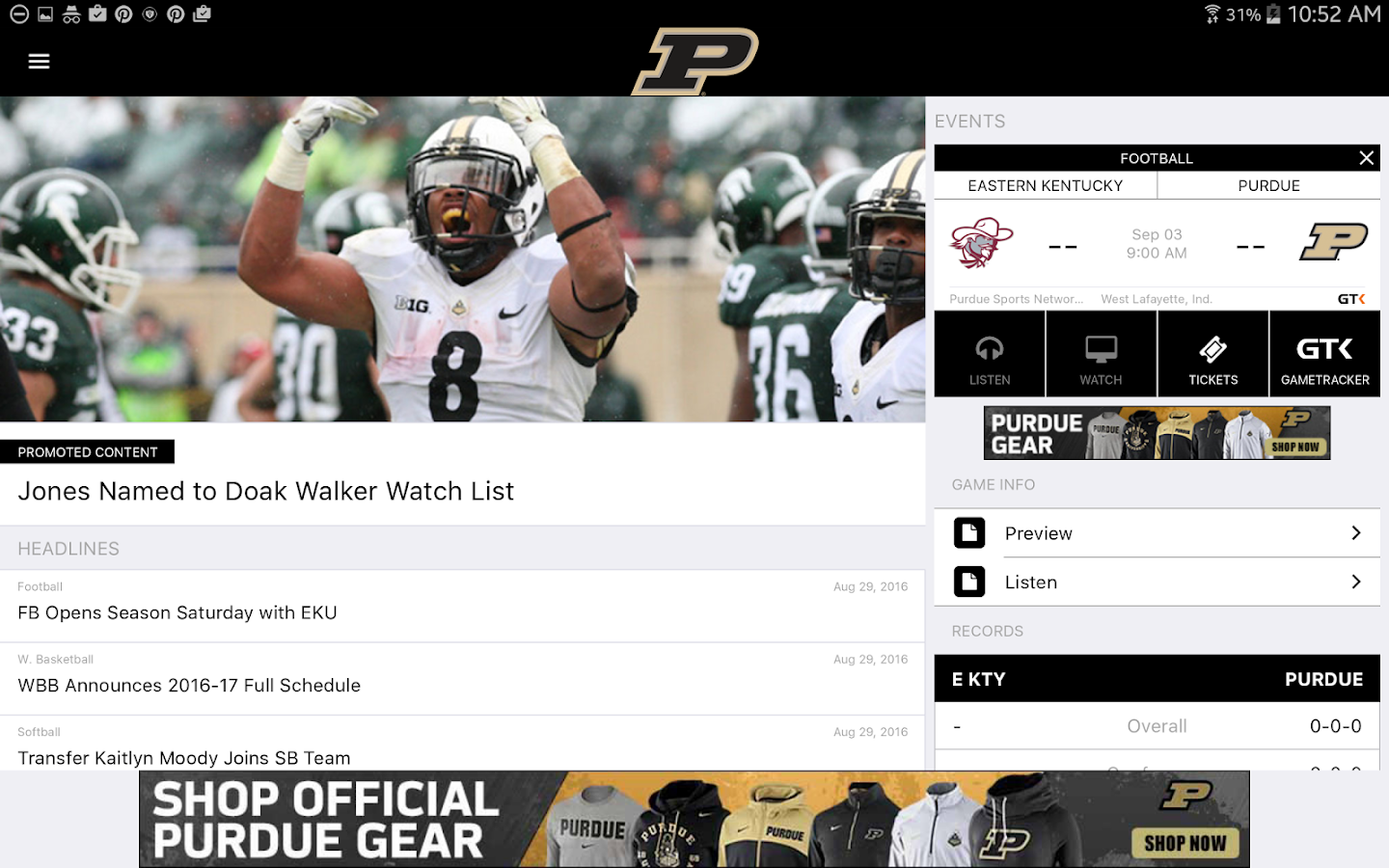PurdueSports.com Gameday LIVE- screenshot
