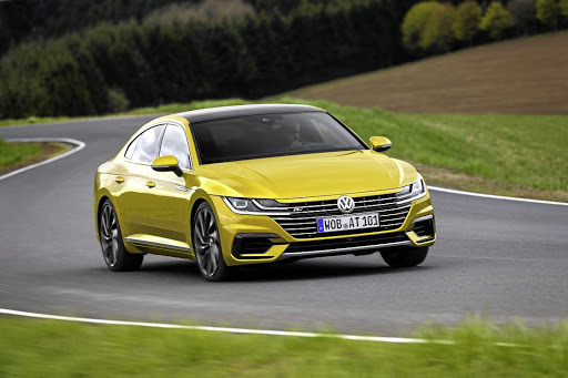 The Volkswagen Arteon will look at its best in R-Line guise and maybe not in mustard yellow.   Picture: VOLKSWAGEN