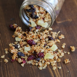 Crock Pot Honey Granola with dried fruit