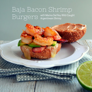 Baja Bacon Shrimp Burgers.