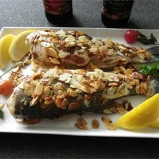 Roasted Sea Bass with Almonds