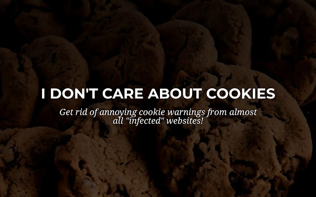 I don't care about cookies