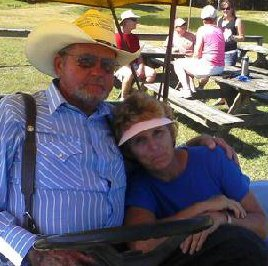 Photo: Two of my favorite people in the world;  Dorothy and Johnnie Wetherington of Turkey Quarter Farm.