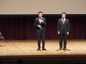 Photo: 高田次期会長と北園現会長