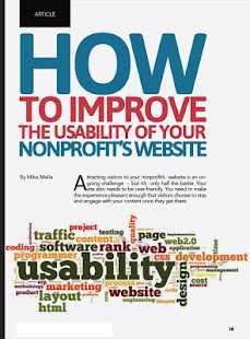 Nonprofit Website & App Review- screenshot thumbnail