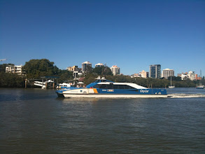 Photo: CityCat ferry service.  Or as Oscar calls it, the Rosie boat.