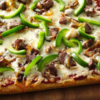 Philly Cheesesteak Pizza.