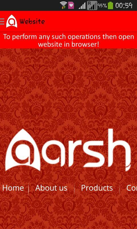 Aarsh- screenshot