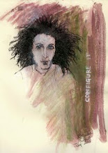 """Photo: Sketch, 2011, 19cm x 25.5cm, 7.5"""" x 10"""", India and acrylic inks on Moleskine Folio Sketchbook A4.  Words: CONFIGURE IT"""