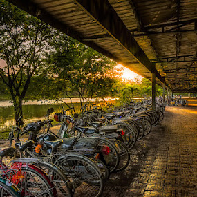 Wheels by Liquid Lens - City,  Street & Park  Street Scenes ( hdr )
