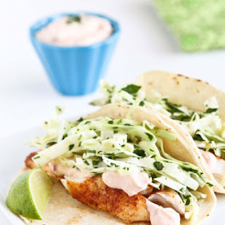 Tilapia Soft Tacos With Honey-lime Slaw