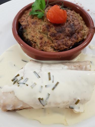 Cabillaud, crème de romarin et aubergine à la Bonifacienne.