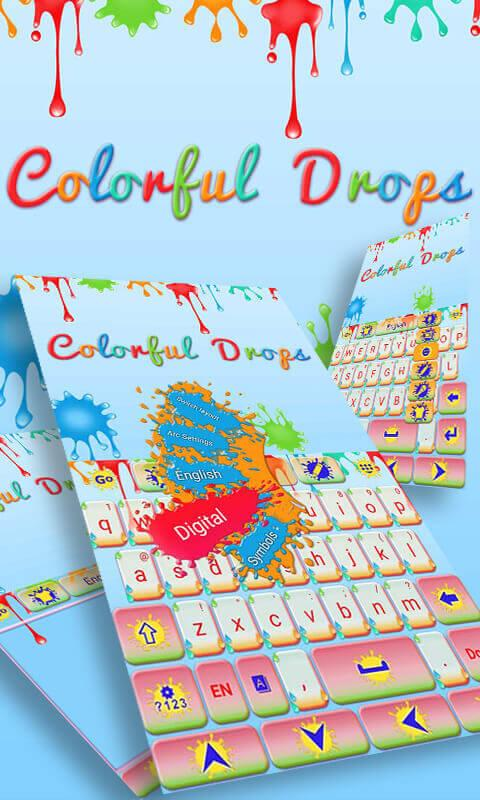 Colorful-Drops-Keyboard-Theme 7