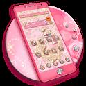 Pink Gold Diamond Live Theme icon