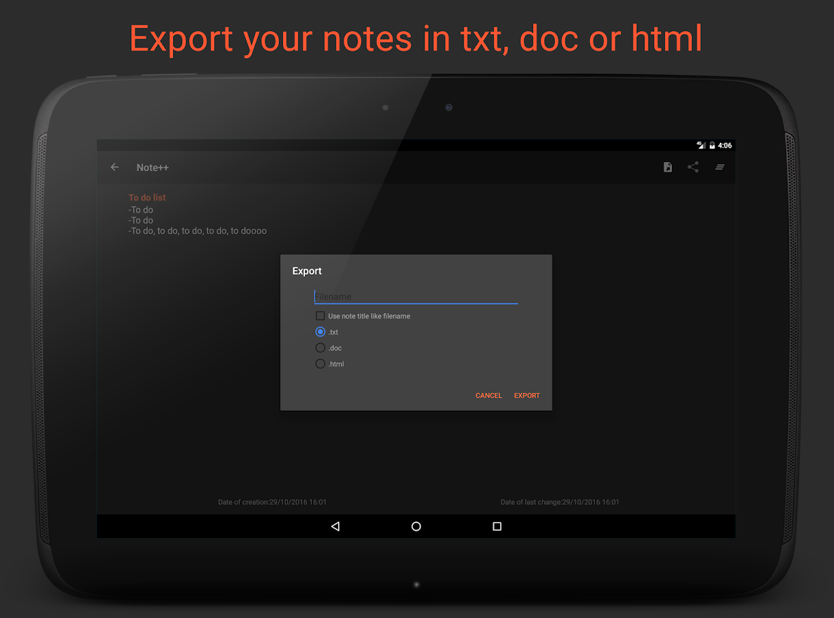 Note++ | Simple notebook- screenshot