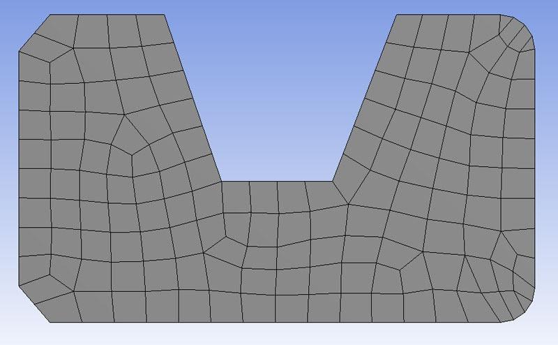 ANSYS | Результат при автоматическом определении типа вершин