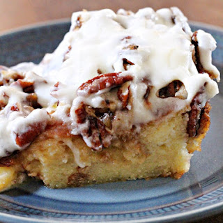 Eggnog Butter Pecan Bread Pudding