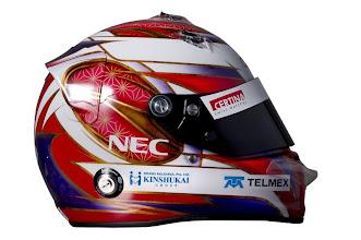Photo: The helmet of Kamui Kobayashi (JPN), Sauber.Formula One Testing, Day 3, Jerez, Spain, Thursday 9 February 2012.