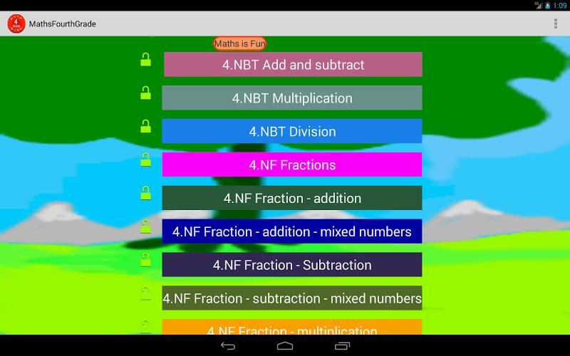 Скриншот Четвертого класса математики