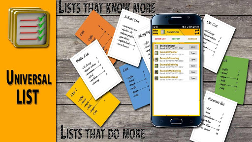 لالروبوت Universal List Pro - Ideas list. تطبيقات screenshot