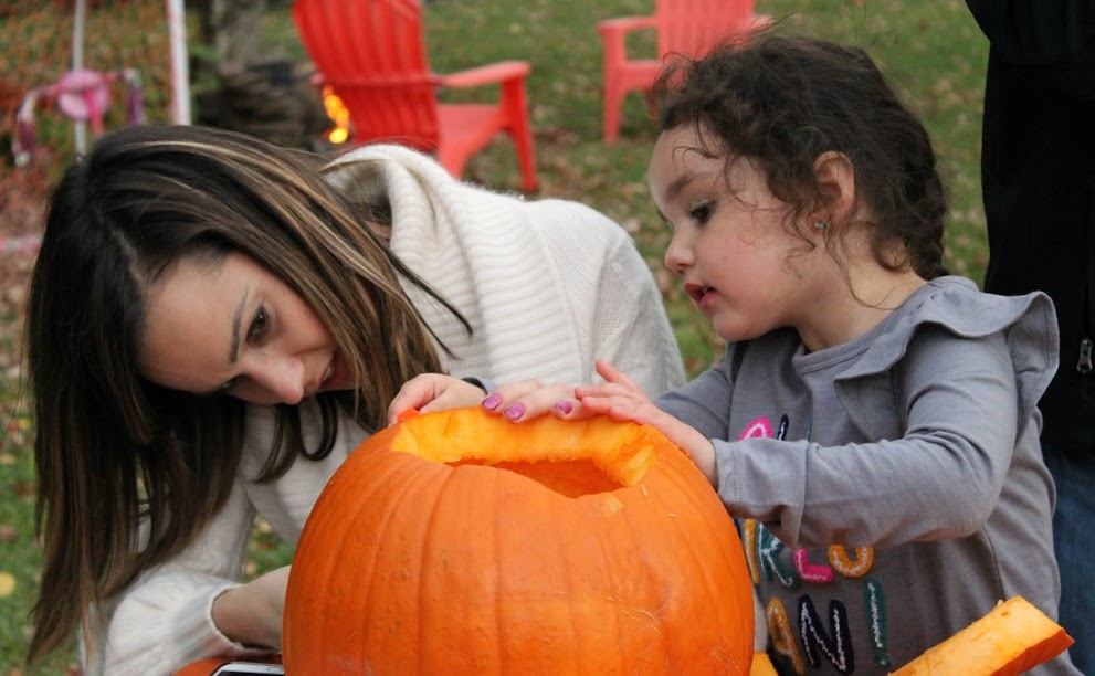 Family Pumpkin Carving Party + Pumpkin Carving Stencils