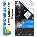 Rhombus RH Theme for Total Launcher Icon