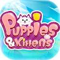 Puppies & Kittens - Line Puzzle Game icon