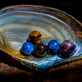 Nature's jewelry by Ovidiu Sova - Artistic Objects Still Life ( mineral, colorful, clam shell, beads, jewelry,  )