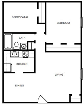 Go to Two Bedroom Garden Floorplan page.