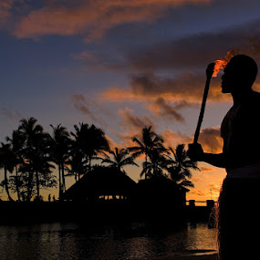by Rob Rickman - Landscapes Travel ( water, warrior, clouds, sunset, fiji, flame )