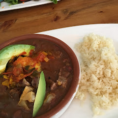 Frijoles with steak