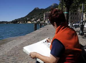 Photo: Zeichnen am Gardasee