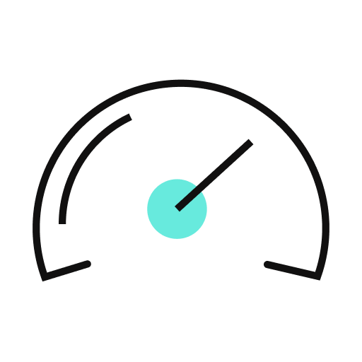 An icon of a speedometer