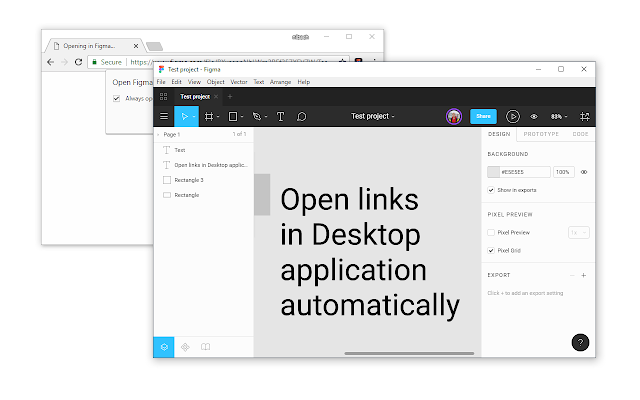 Figma (Open links in Application)