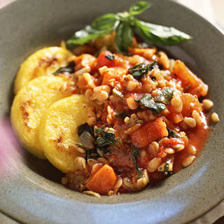 Minestrone Ragout Over Polenta