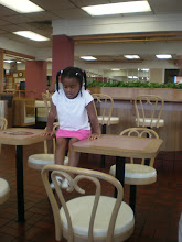 Photo: kaleya getting a workout at mickey d's