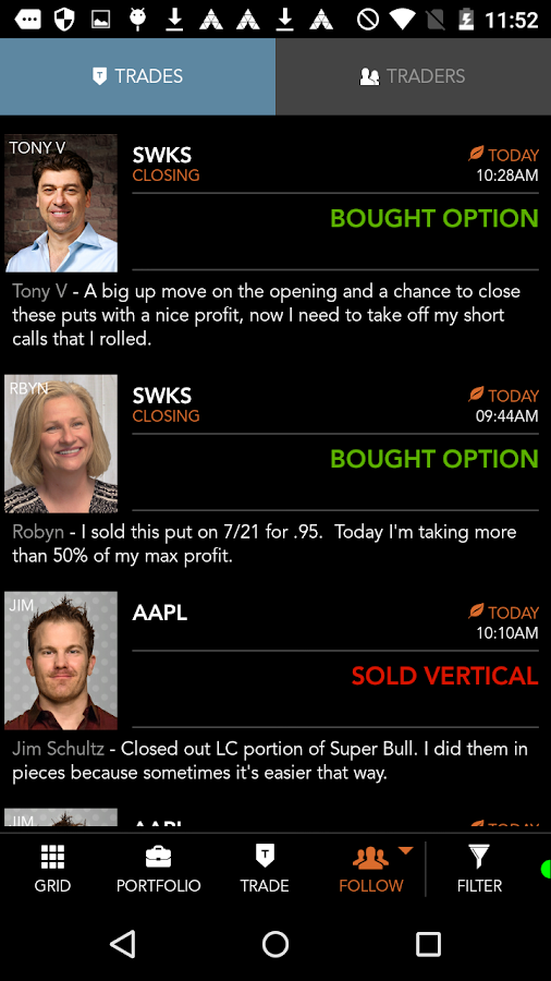 Options trading dough