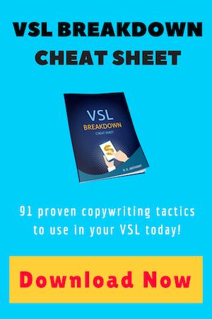 VSL Copywriting Cheat Sheet download