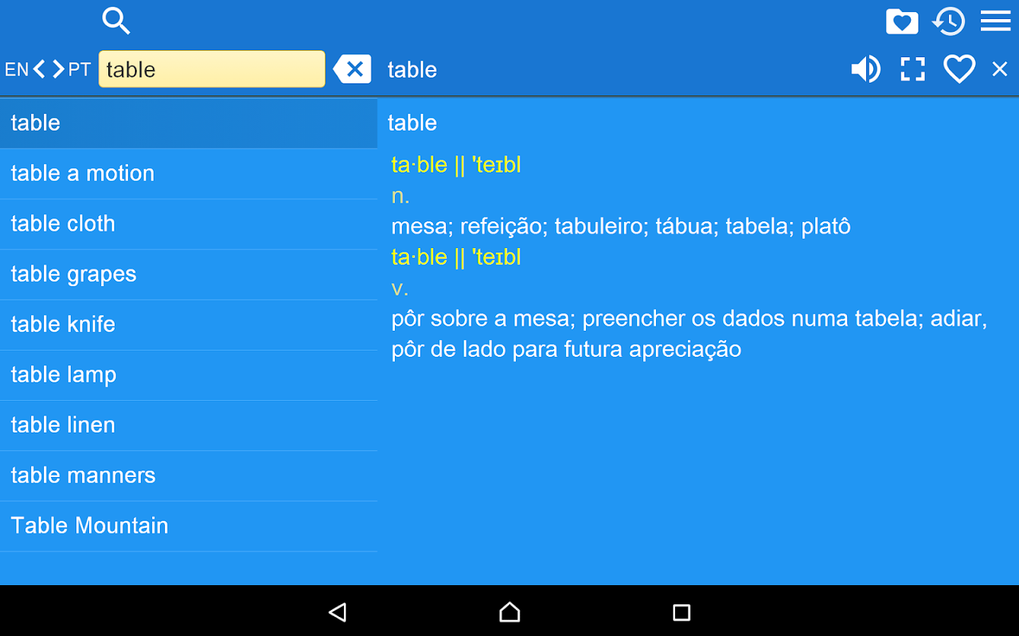English Portuguese Dict Free- screenshot