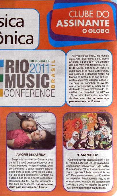 Photo: Promoção do Clube do Assinante d'O Globo: Carolina Floare como BUTIJA (ao centro, em frente)