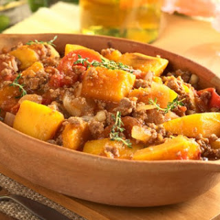 Stewed Potato, Beef, and Squash