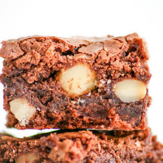 Chocolate Macadamia Nut Brownies.