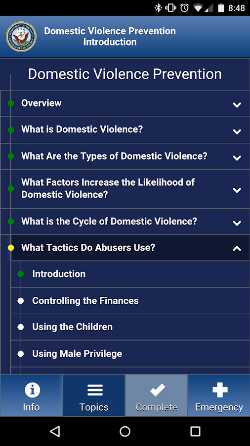 Domestic violence: phases, types, prevention