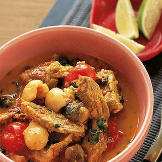 Barbecue Duck Curry With Lychees