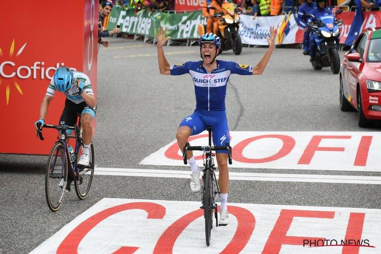 Enric Mas dolgelukkig met ritzege en podium voor Quick-Step, dat fabelachtige statistiek deelt van hun dominantie in grote rondes