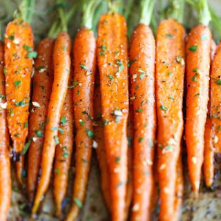 Garlic Roasted Carrots.