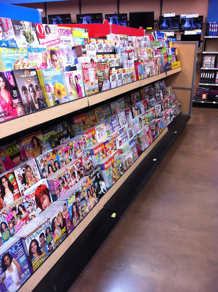 Photo: my first stop was to the back of the store where the magazines are but I couldn't find All You :(