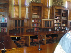 Photo: inside Cravath Hall in the room where the board meets.  you can tell this used to be a library.