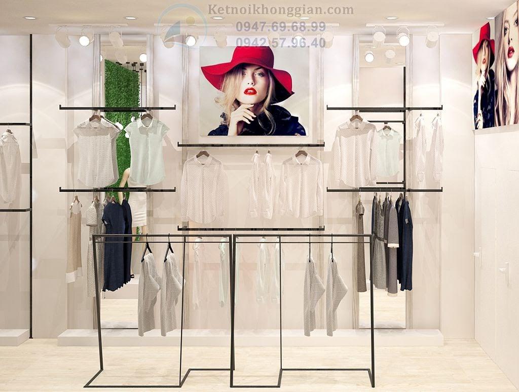 thiết kế cửa hàng thời trang công sở nữ tại thủ đô